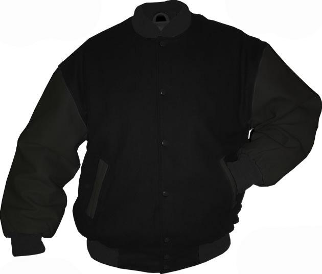 Black Wool / Black Leather Varsity Letterman Jacket - $139.99  Michael Jackson Celebrity ...