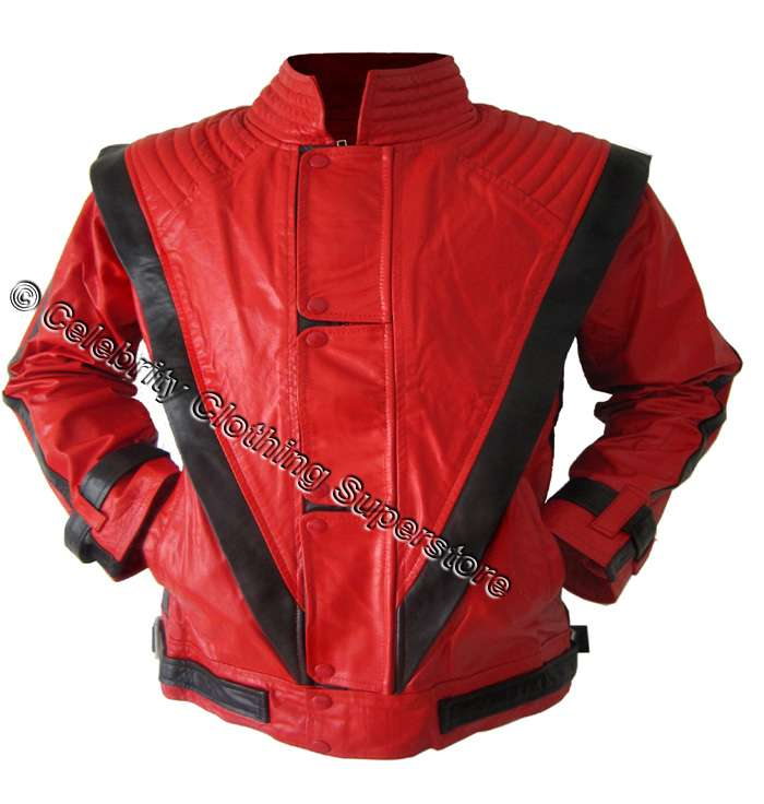 mj real leather thriller jacket all sizes 14999