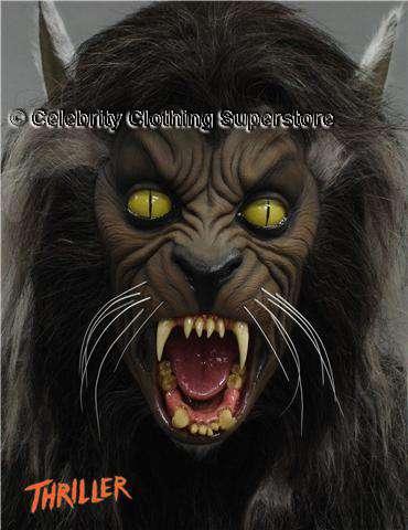 Michael Jackson Thriller Werewolf Mask Michael Jackson Wolf H...