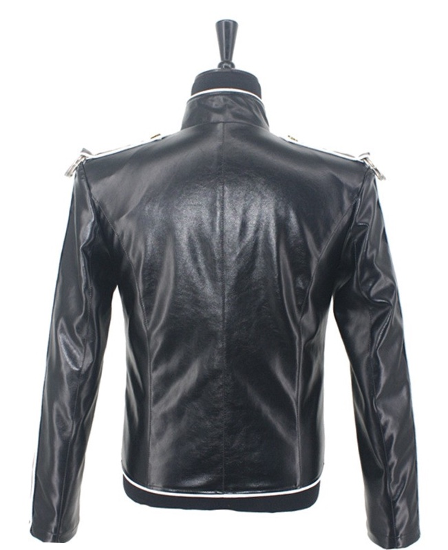 Michael Jackson V8 Leather Jacket Rear View