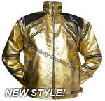 LATEST FASHION! GOLD Beat It Jacket - NEW STYLE!